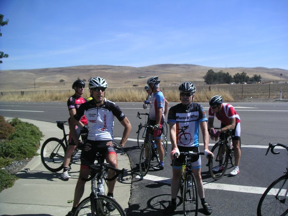 Trip photo #6/14 Regroup on Greenville - waiting for flat repair