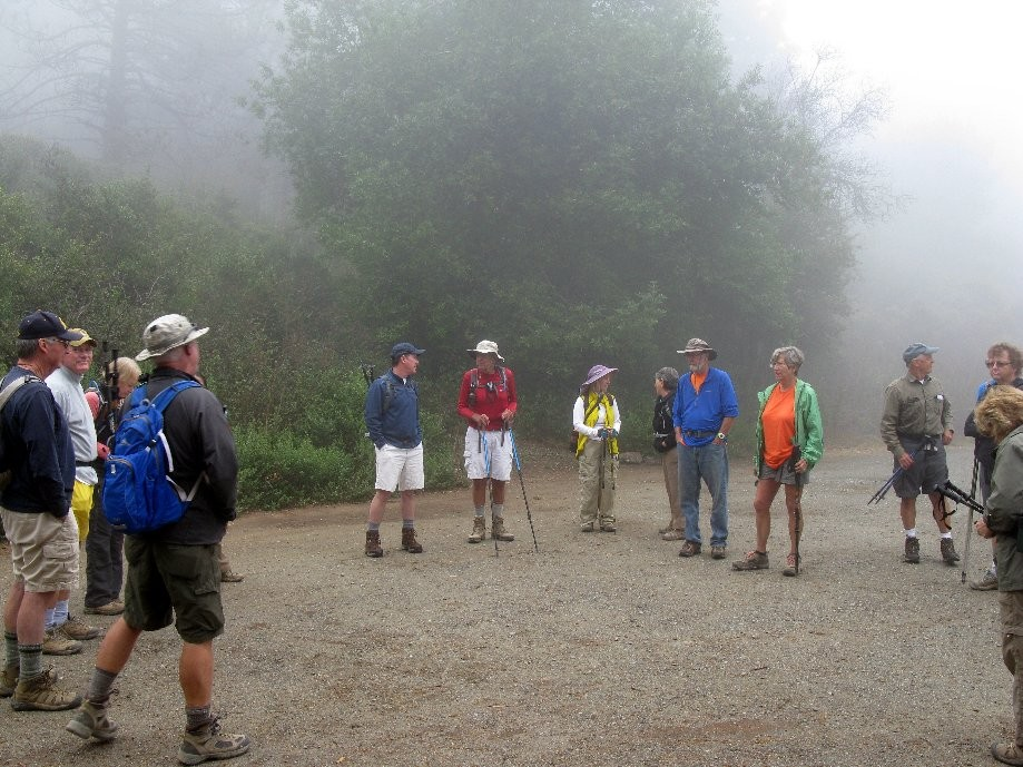 Trip photo #1/24 Gathering below Vollmer Peak in the fog
