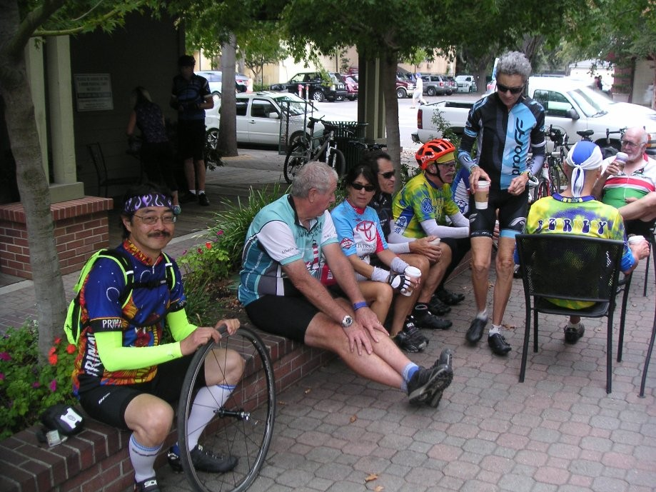Trip photo #5/5 Refreshment stop at Peet's in Danville and flat repair