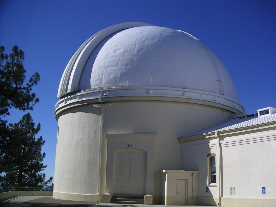 "Trip photo #16/18 36"" refractor dome (was largest in world in 1886, still 2nd largest)"