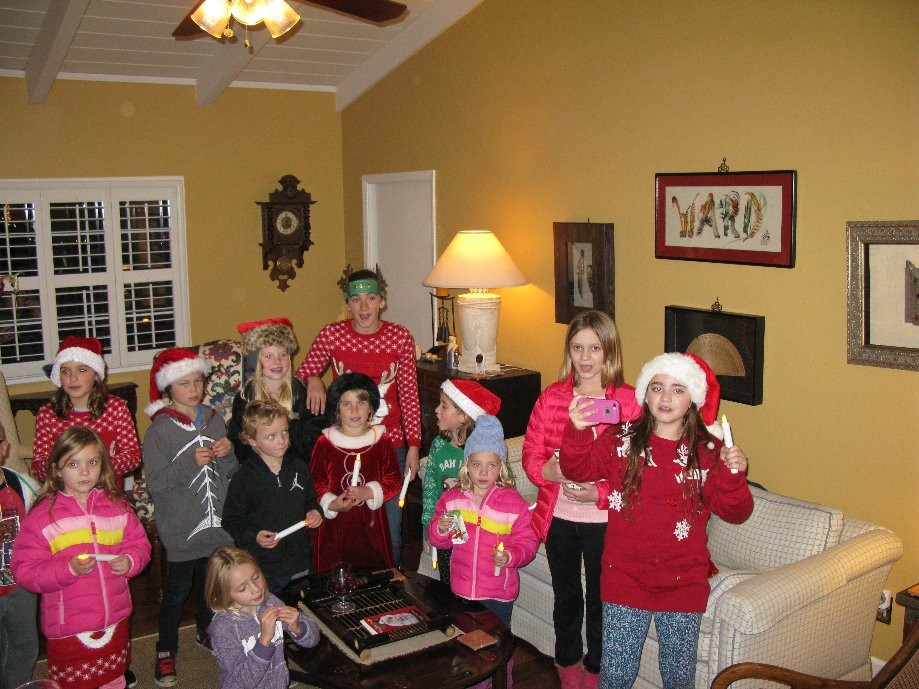 Trip photo #24/25 Visiting neighborhood carolers
