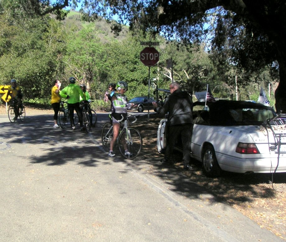 Trip photo #10/26 Back at Calaveras Rd. after ride into park