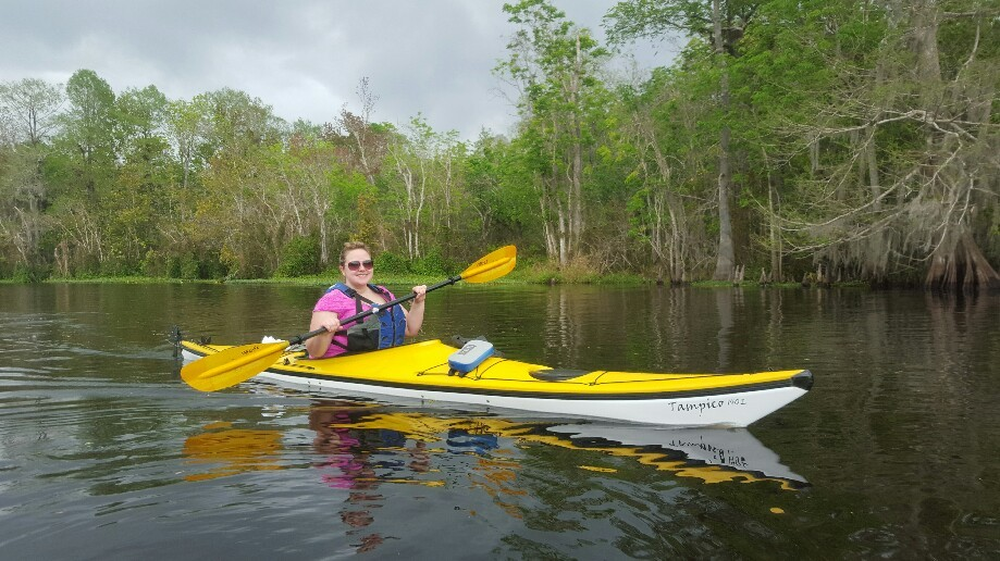 Trip photo #5/8 Erika trying out a real kayak!