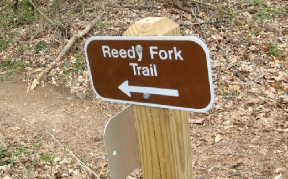 Trip photo #12/15 Reedy Fork Trail sign