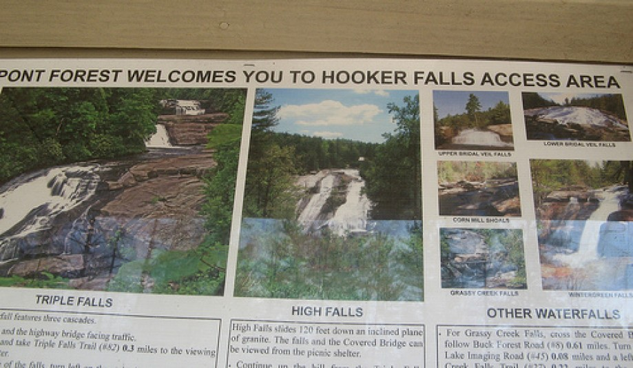 Trip photo #14/14 Sign for Hooker Falls Access Area