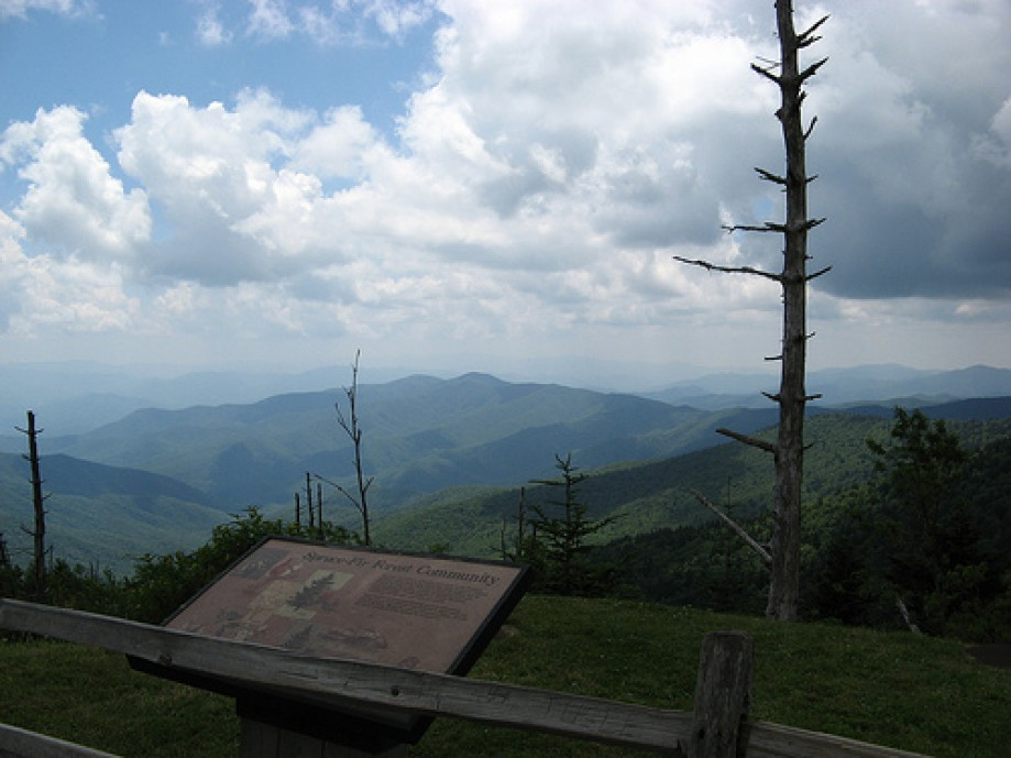 Trip photo #9/10 Looking out over the Smokies