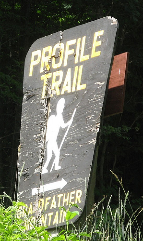 Trip photo #15/15 Profile Trail sign from Highway 101