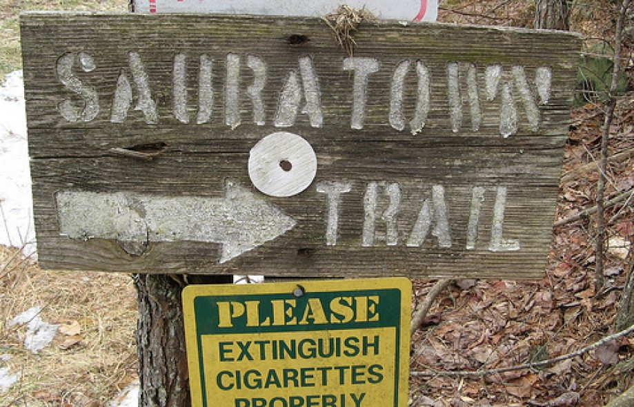 Trip photo #3/10 Rustic looking trail sign