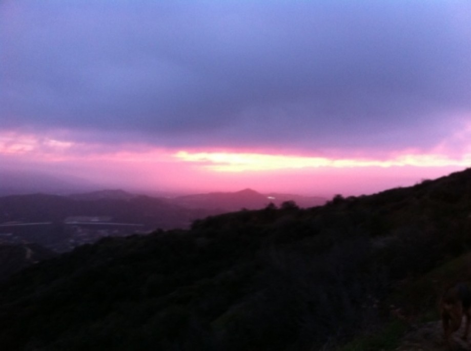 Trip photo #5/22 Sunrise from the Verdugos