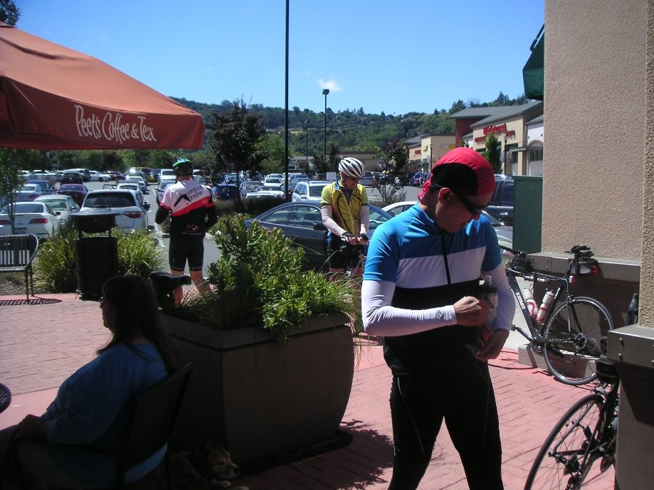 Trip photo #8/15 Refreshment stop at Peet's in Pinole