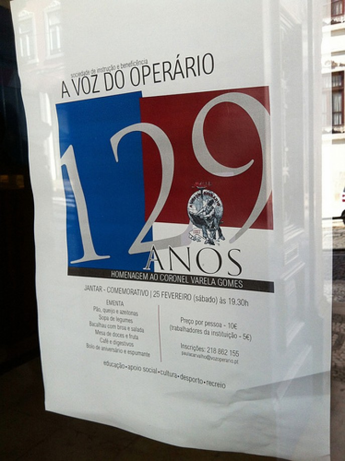 Trip photo #37/69 Announcement at the Voz do Operário
