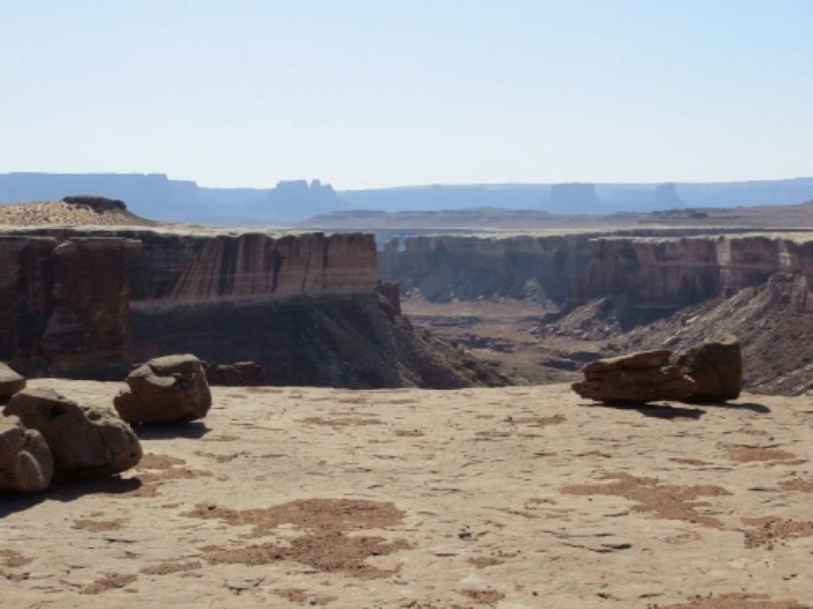 Trip photo #21/39 Looking out toward the Green River