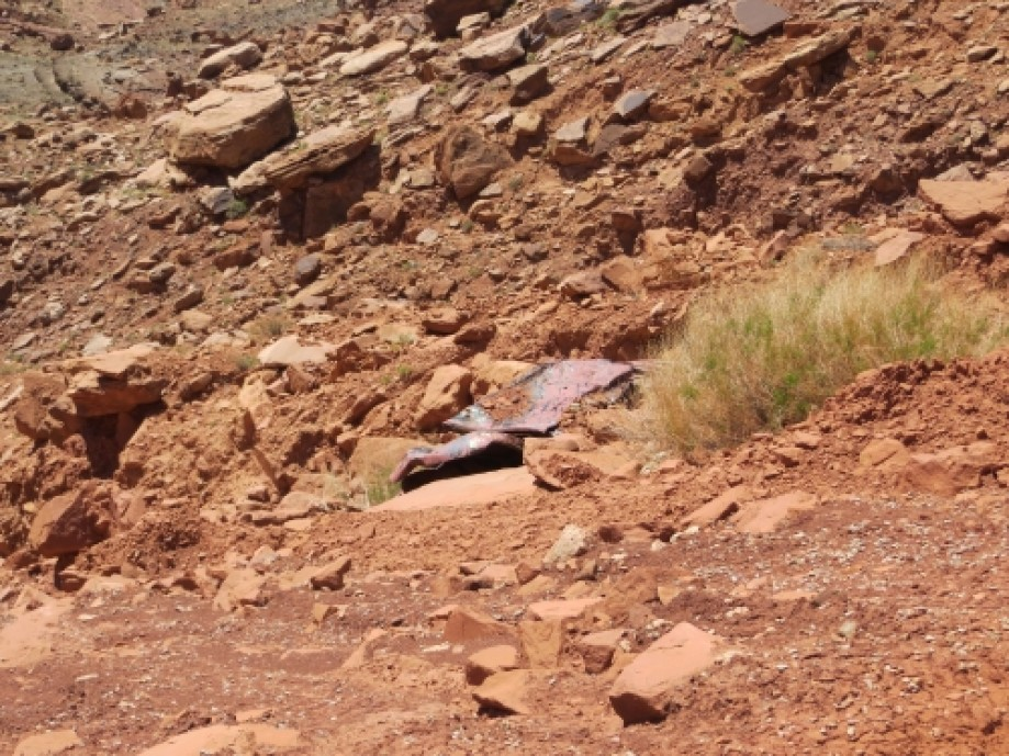 Trip photo #38/39 Car wreckage on switchbacks above Mineral Bottom