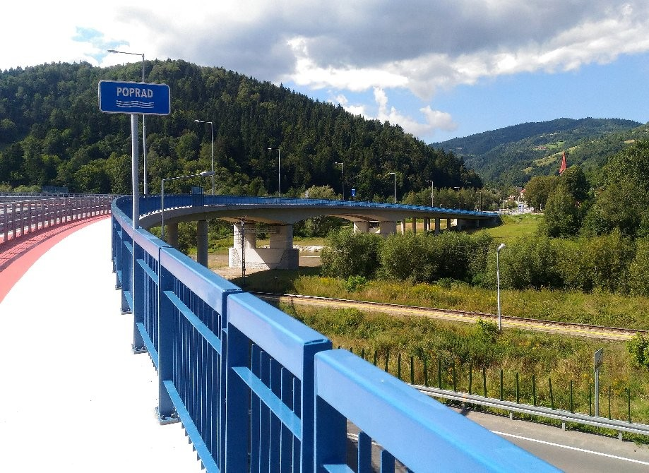 Bridge over Poprad river, connecting Poland and Slovakia