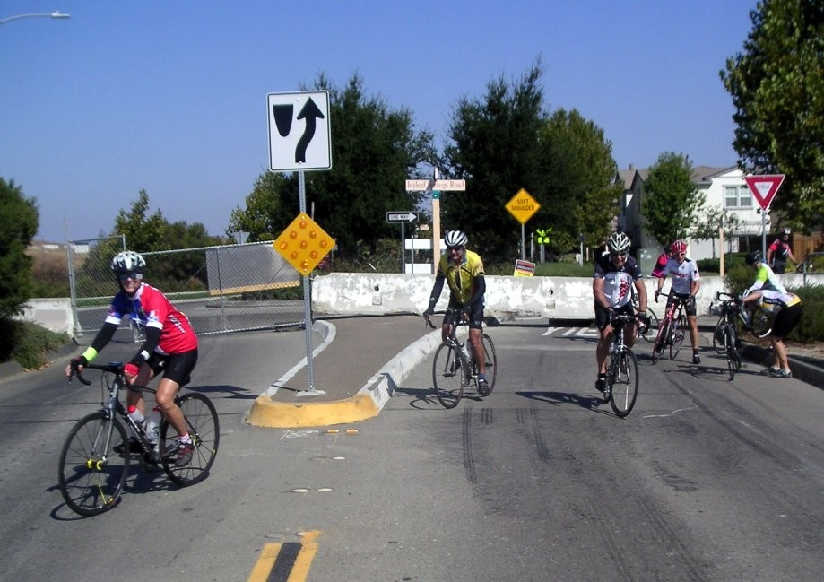 Trip photo #4/9 Road closure on old Dougherty Rd. (to be converted to bike/ped path)
