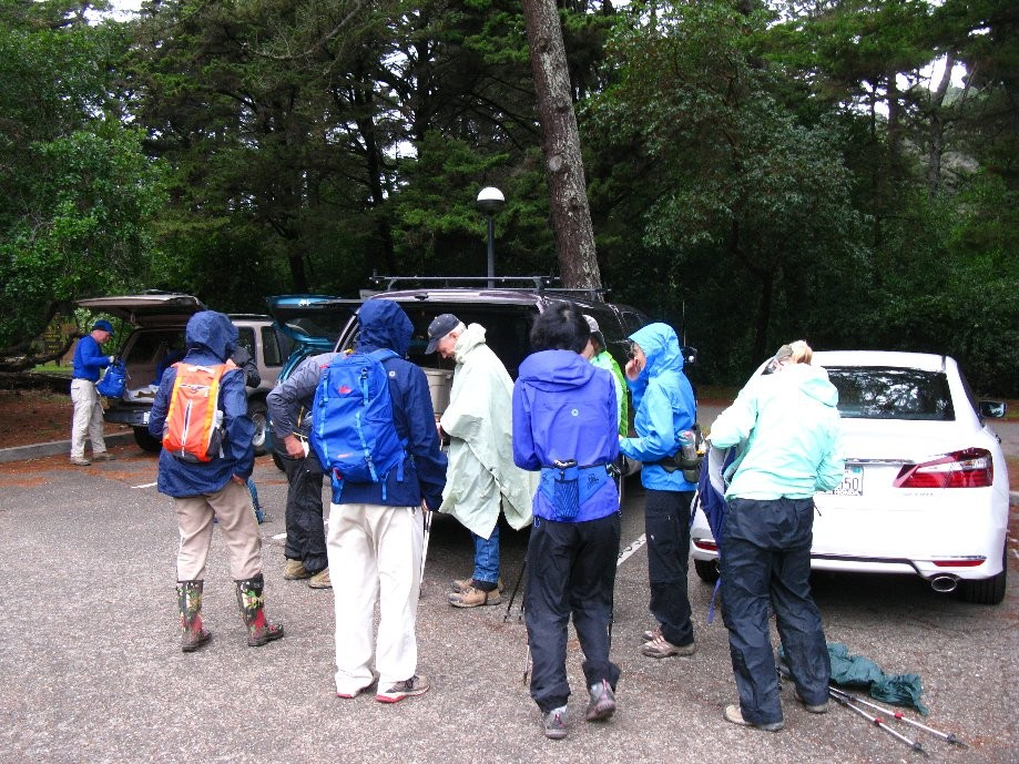 Trip photo #1/4 Putting on rain gear at the start