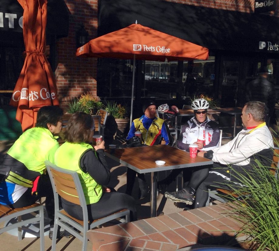 Trip photo #2/4 Refreshment stop at Peet's in downtown Pleasanton