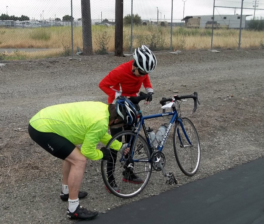 Trip photo #2/9 Flat tire on Iron Horse trail
