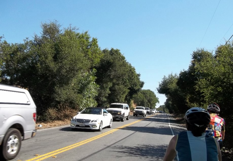 Trip photo #6/7 Traffic backup on Pleasanton-Sunol Rd.