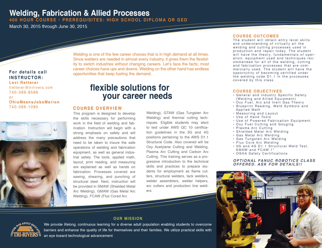 Adult education news archives page 4 of 5 tri rivers career welding brochure jan 2015 2 malvernweather Image collections