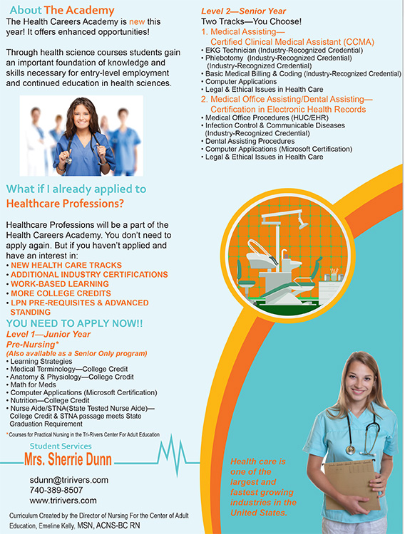 Tri-Rivers Opens Health Careers Academy-flyer - Tri-Rivers Career ...