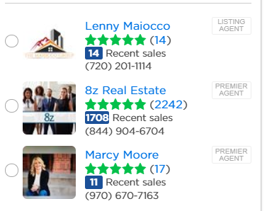 real estate agent reviews on ziillow