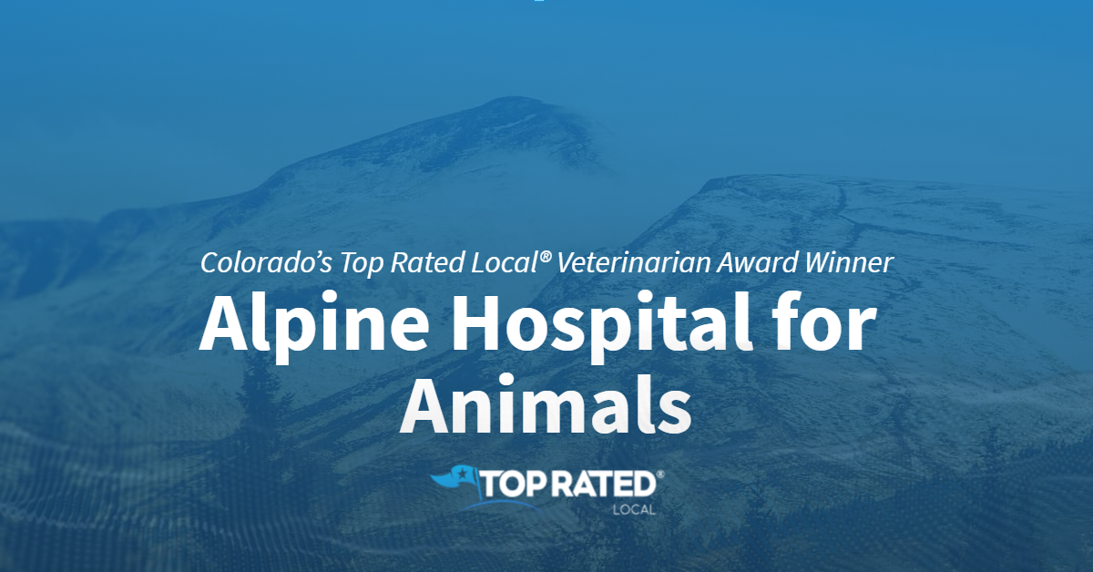 Colorado's Top Rated Local® Veterinarian Award Winner: Alpine Hospital for Animals