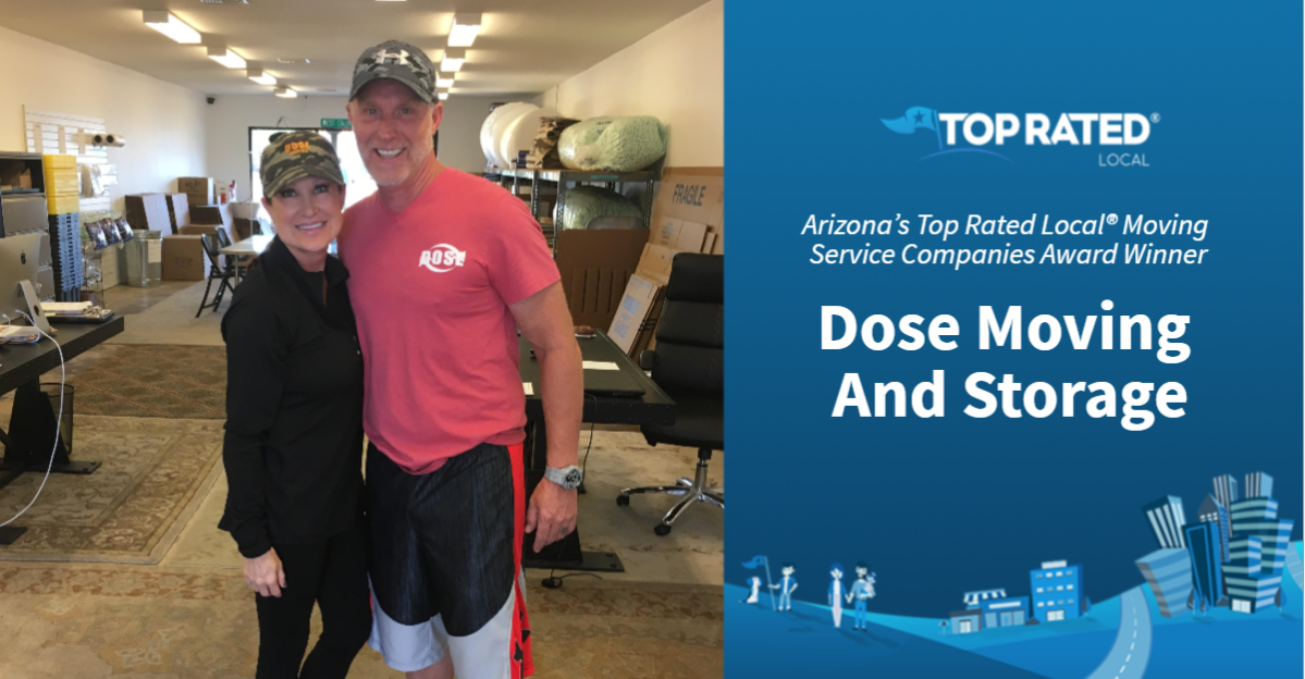Arizona's Top Rated Local® Moving Service Companies Award Winner: Dose Moving And Storage