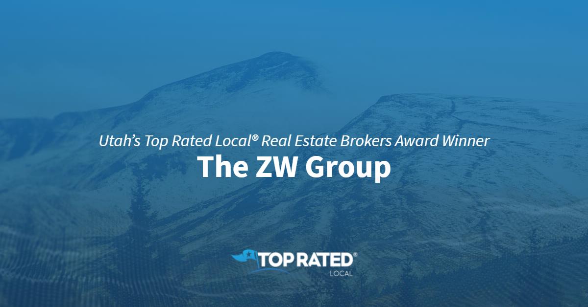 Utah's Top Rated Local® Real Estate Brokers Award Winner: The ZW Group