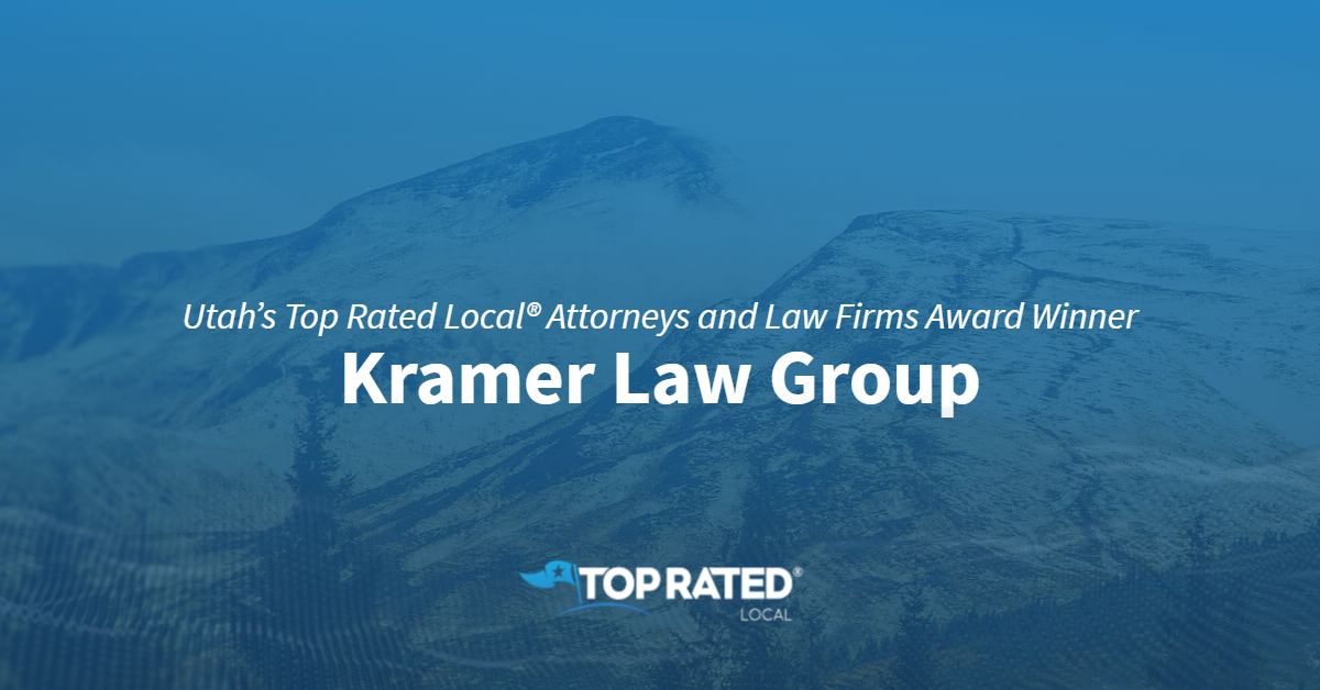 Utah's Top Rated Local® Attorneys and Law Firms Award Winner: Kramer Law Group