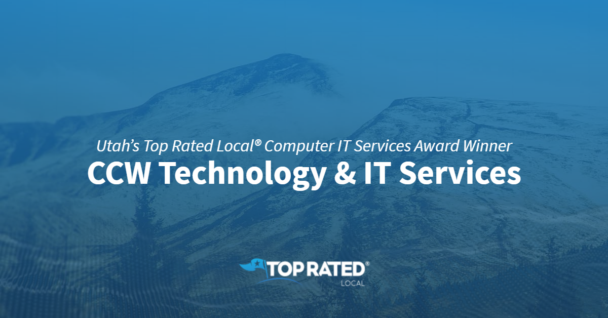 Utah's Top Rated Local® Computer IT Services Award Winner: CCW Technology & IT Services