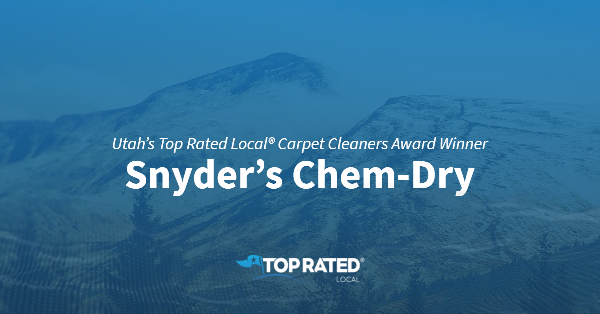 Utah's Top Rated Local® Carpet Cleaners Award Winner: Snyder's Chem-Dry