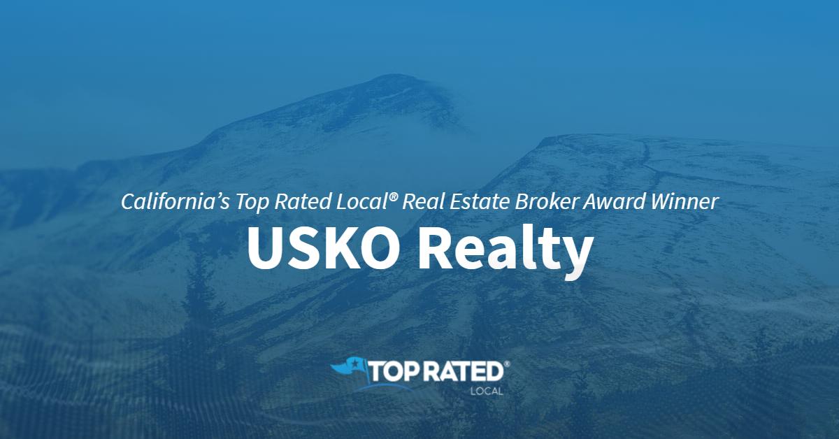 California's Top Rated Local® Real Estate Broker Award Winner: USKO Realty