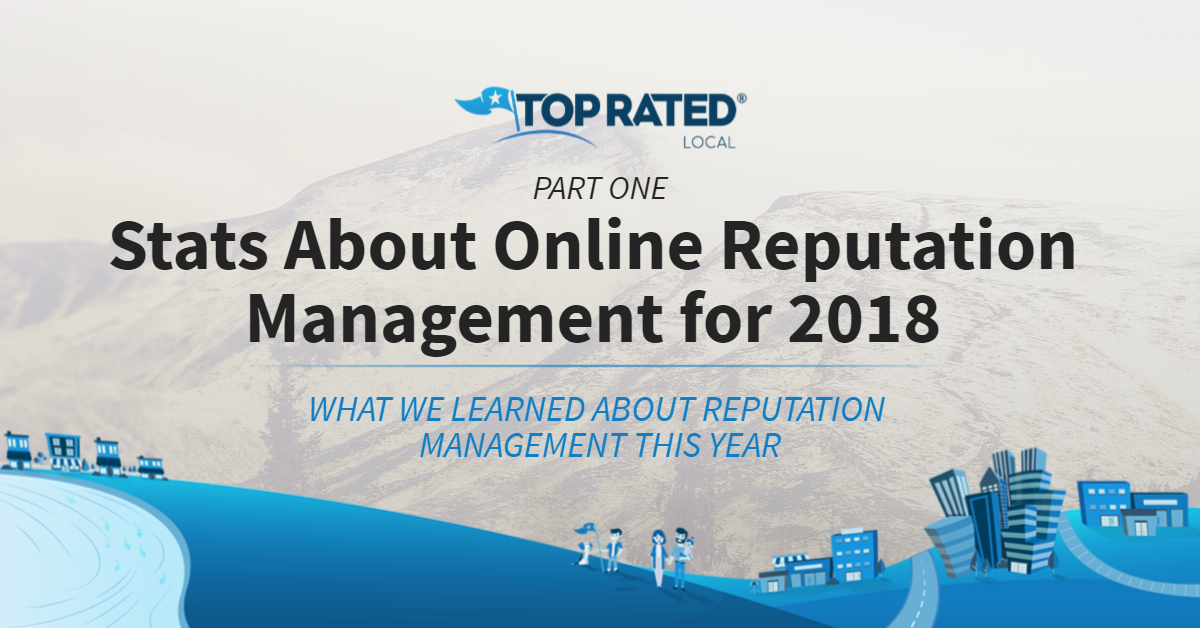Stats About Online Reputation Management for 2018: Part One