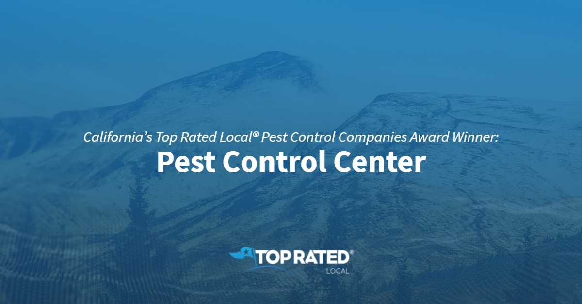 California's Top Rated Local® Pest Control Companies Award Winner: Pest Control Center
