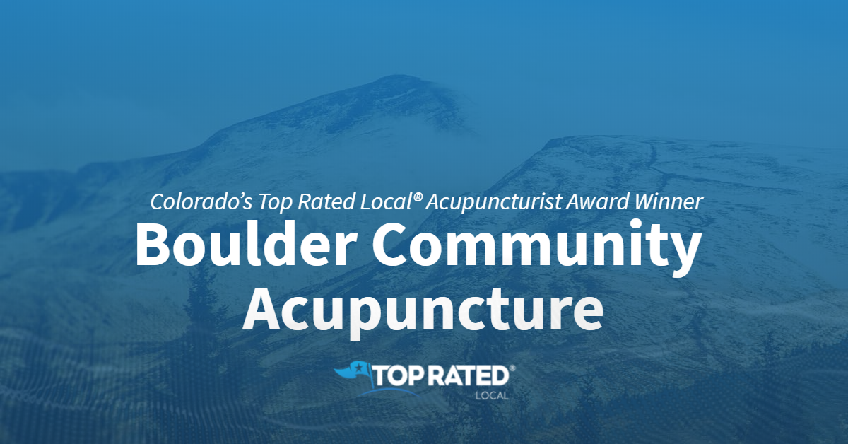 Colorado's Top Rated Local® Acupuncturist Award Winner: Boulder Community Acupuncture