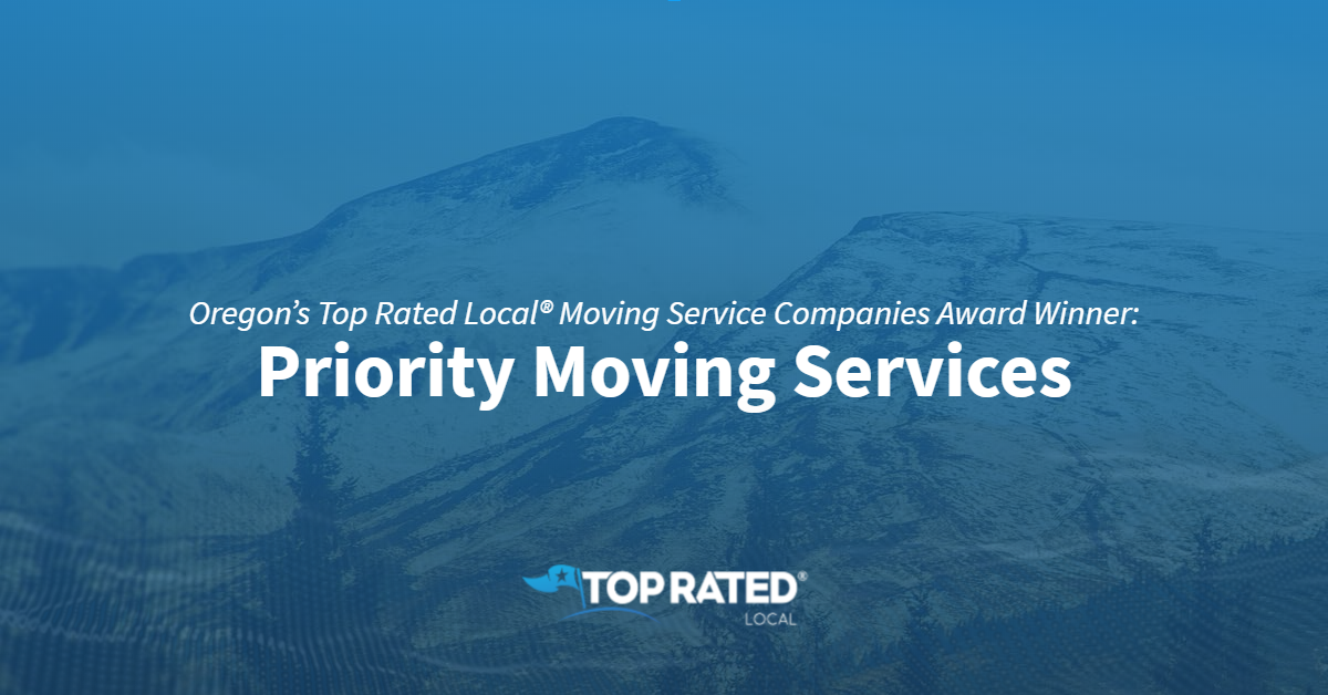 Oregon's Top Rated Local® Moving Service Companies Award Winner: Priority Moving Services