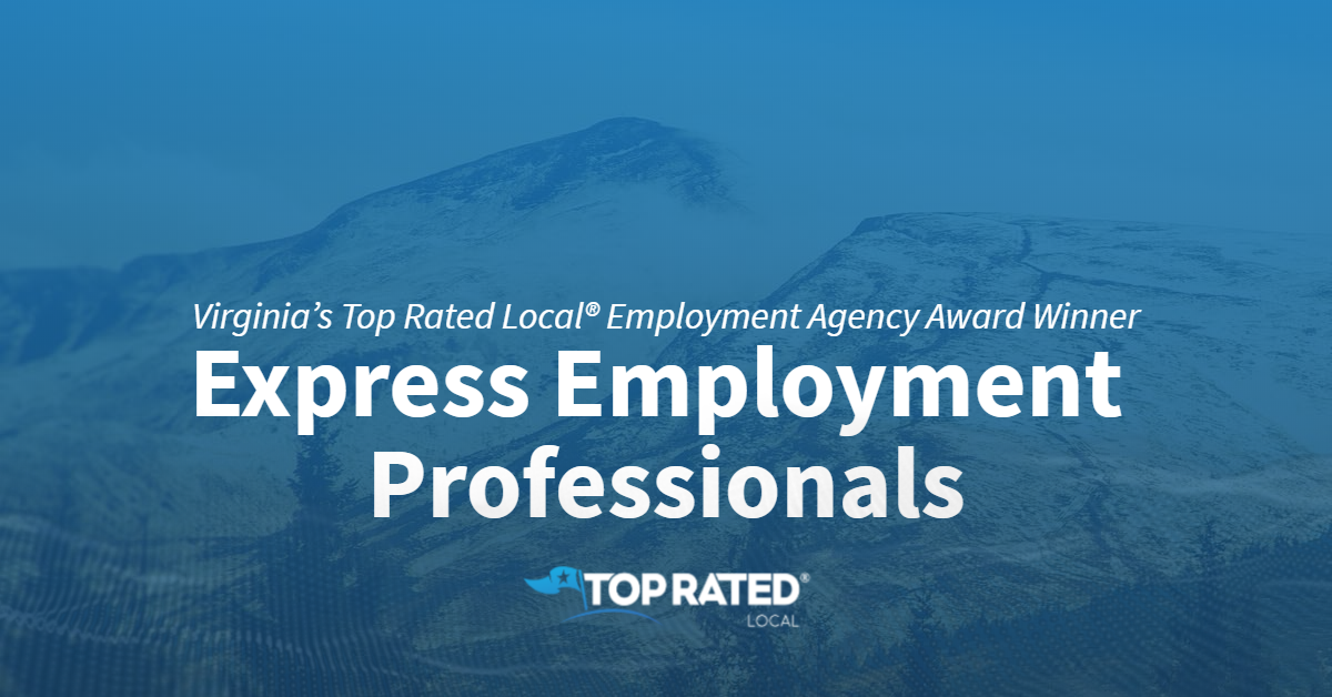 Virginia's Top Rated Local® Employment Agency Award Winner: Express Employment Professionals