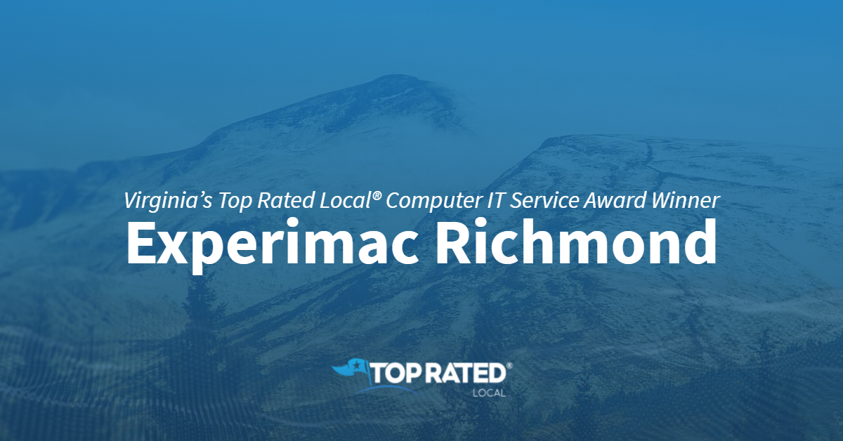 Virginia's Top Rated Local® Computer IT Service Award Winner: Experimac Richmond