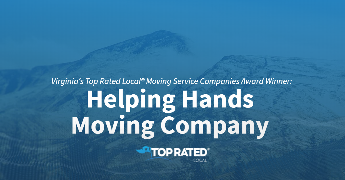 Virginia's Top Rated Local® Moving Service Companies Award Winner: Helping Hands Moving Company