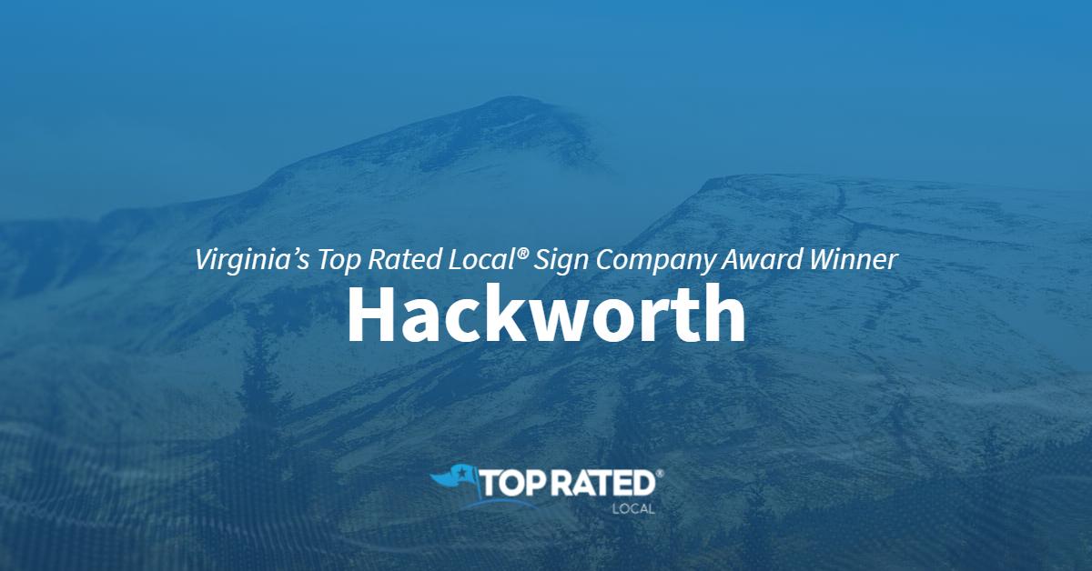 Virginia's Top Rated Local® Sign Company Award Winner: Hackworth