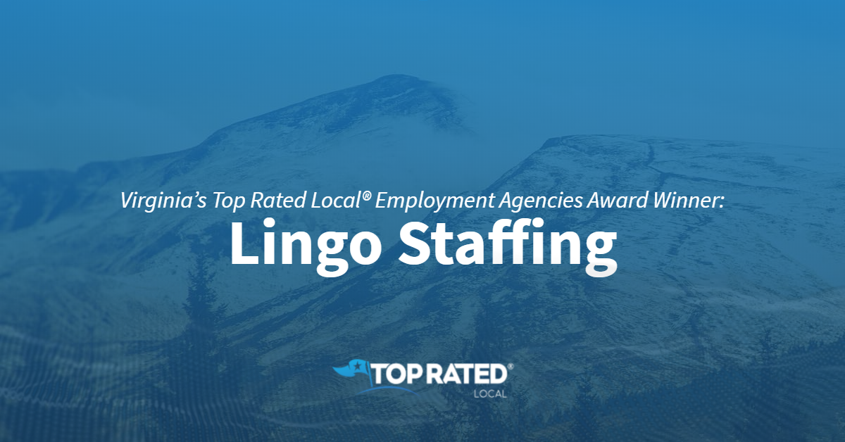 Virginia's Top Rated Local® Employment Agencies Award Winner: Lingo Staffing