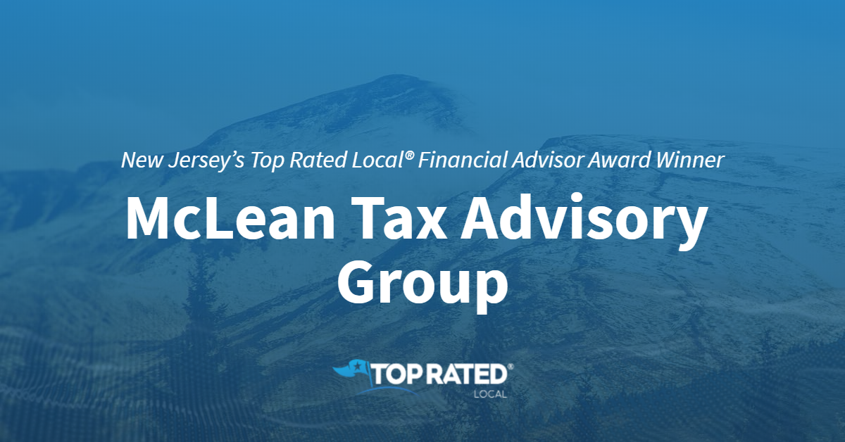 New Jersey's Top Rated Local® Financial Advisor Award Winner: McLean Tax Advisory Group