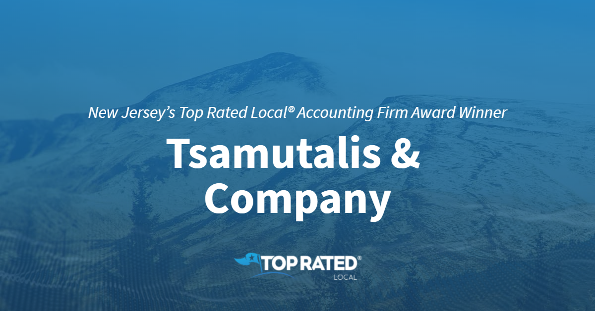 New Jersey's Top Rated Local® Accounting Firm Award Winner: Tsamutalis & Company