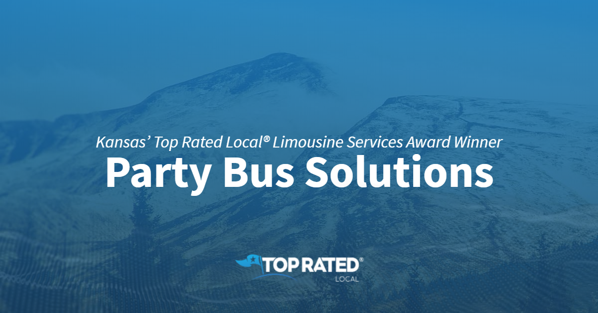 Kansas' Top Rated Local® Limousine Services Award Winner: Party Bus Solutions
