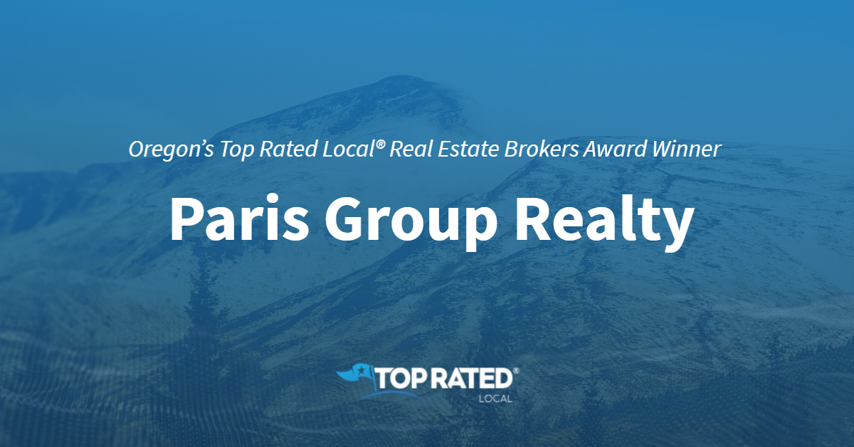 Oregon's Top Rated Local® Real Estate Brokers Award Winner: Paris Group Realty