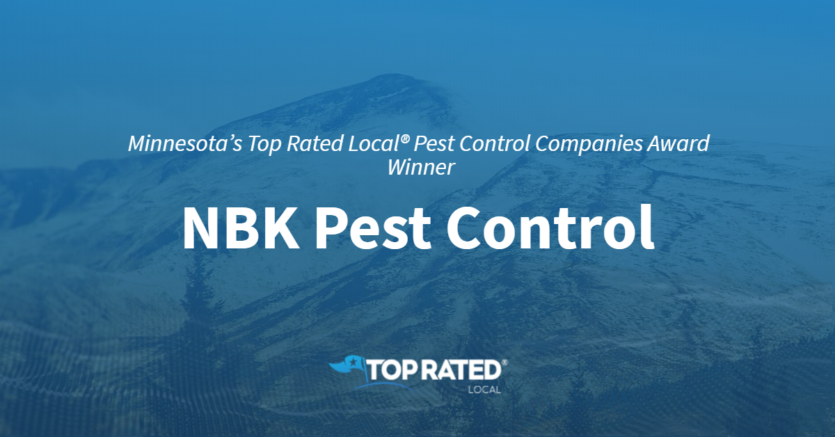 Minnesota's Top Rated Local® Pest Control Companies Award Winner: NBK Pest Control
