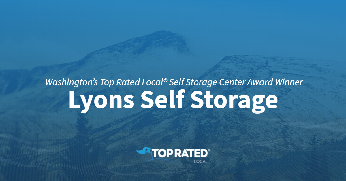 Washington's Top Rated Local® Self Storage Center Award Winner: Lyons Self Storage