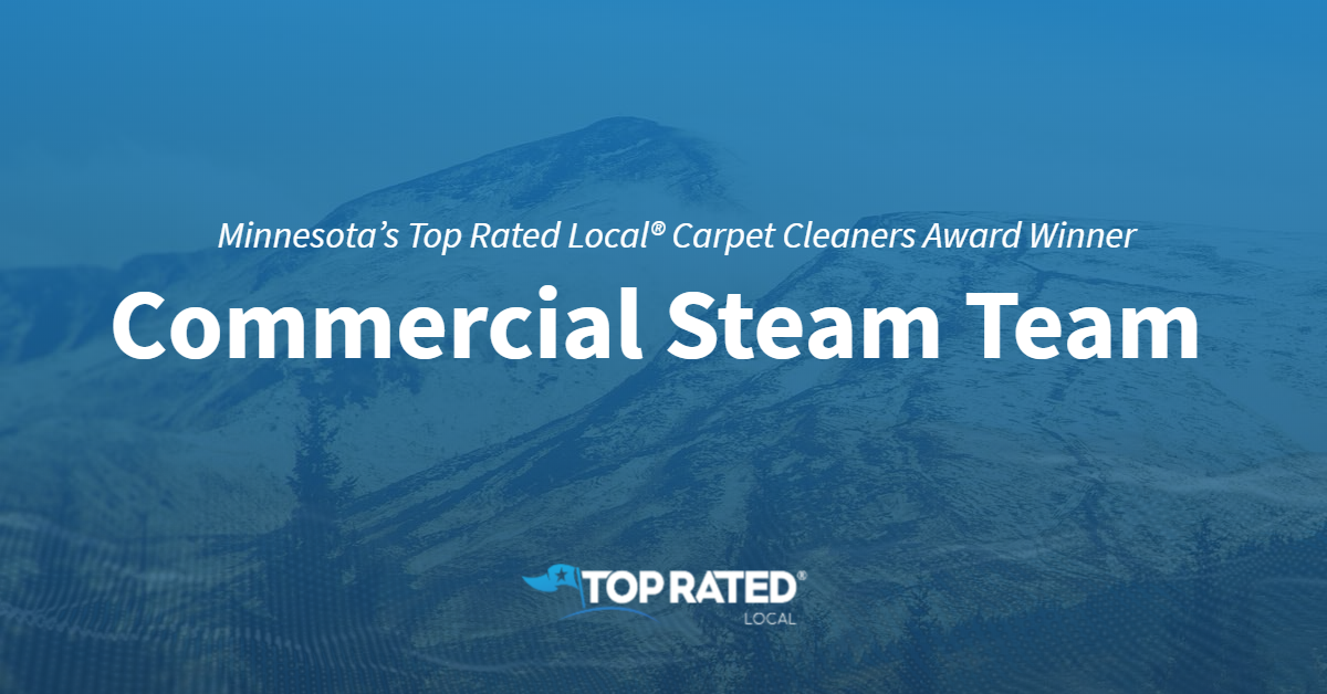 Minnesota's Top Rated Local® Carpet Cleaners Award Winner: Commercial Steam Team