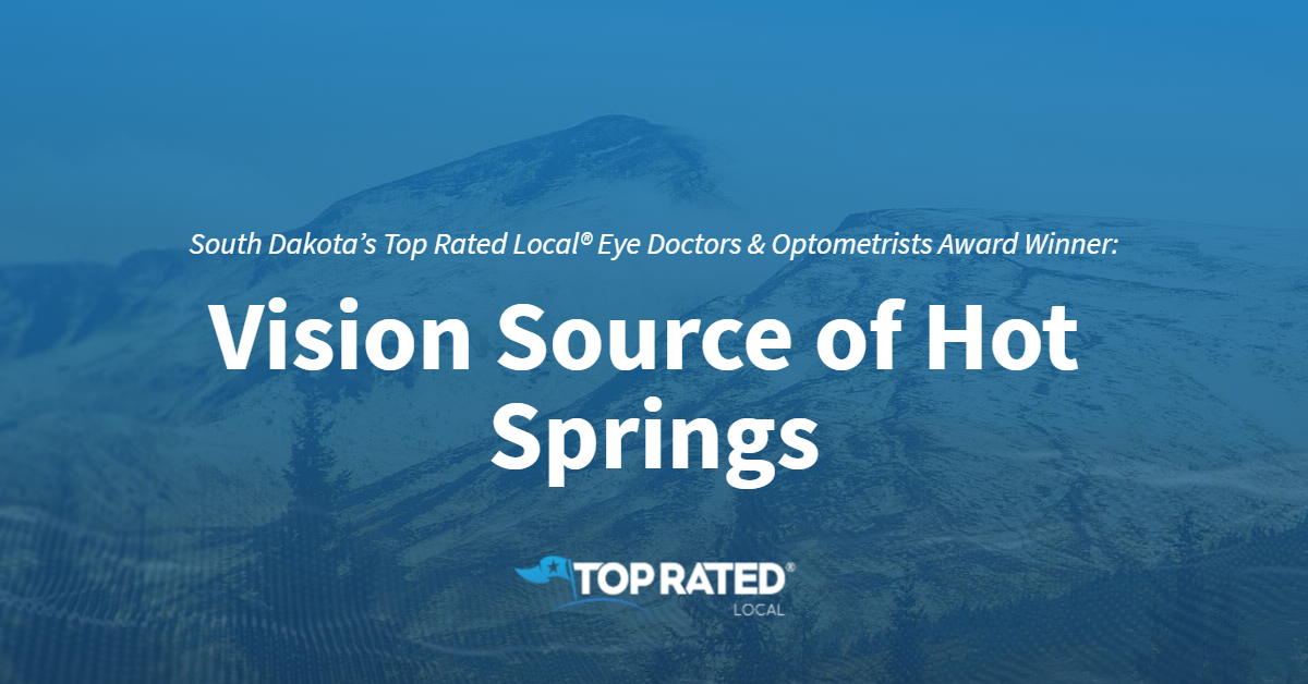 South Dakota's Top Rated Local® Eye Doctors & Optometrists Award Winner: Vision Source of Hot Springs